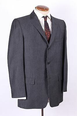 Vintage 60S Silver Sharkskin 3 Button Wool Suit Mens Size 40