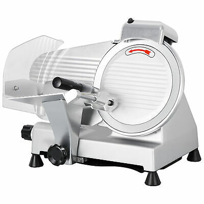 """10"""" Blade Commercial Semi-Auto Meat Slicer Electric Deli Slicer Veggies Cutter"""