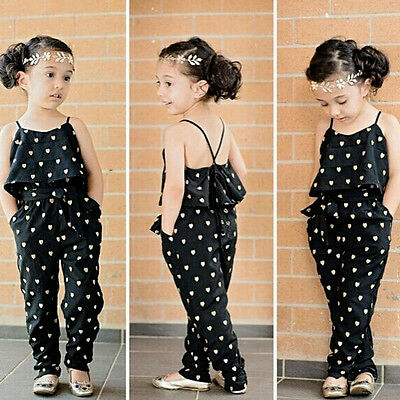 Sweet Baby Girl Kids Sleeveless Jumpsuit Romper +Belt 2pcs Set Clothes Outfits