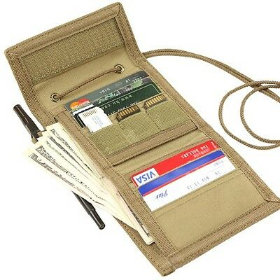 Condor 235 TAN VAULT Tri-Fold Travel Wallet ID Badge Window Cards Coin Pouch
