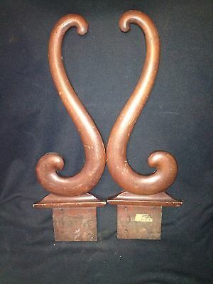 "Early Pr 19 5/8"" Carved Wood Architectural Pediment"