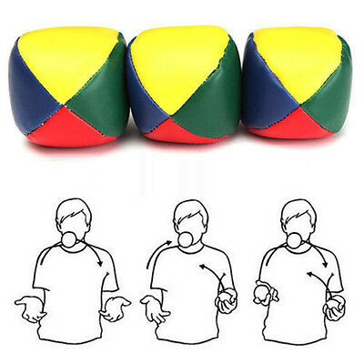COLOURED JUGGLING BALLS - LEARN TO JUGGLE SET of THREE 3 - CIRCUS TOYS BC