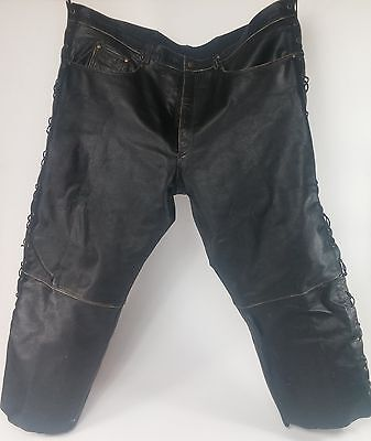 Himalaya Motor Bike Wear 100% Leather Motorcycle Pants 6XL Cross Lace Side Seam