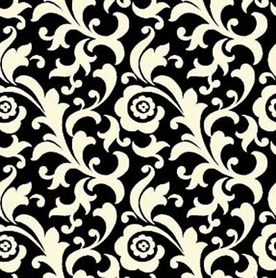 Black 23920 J FABRIC Quilting Treasures ~ SO CHIC ~ by Waverly by 1//2 yard