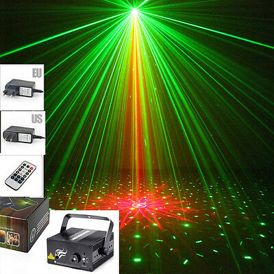 SUNY 2 Lens Laser Projector Stage Light RG Blue LED Lighting DJ Club Party Show