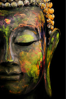 Abstract Buddha Statue WALL ART CANVAS FRAMED OR POSTER PRINT