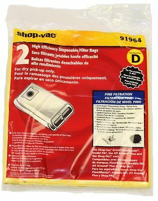 Shop-Vac 91964 Type D, AllAround Plus Collection Bag - Pack of 2