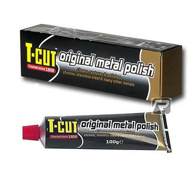 T-Cut Metal Polish - Cleaner/Restorer Chrome Aluminium Stainless Steel - 100g