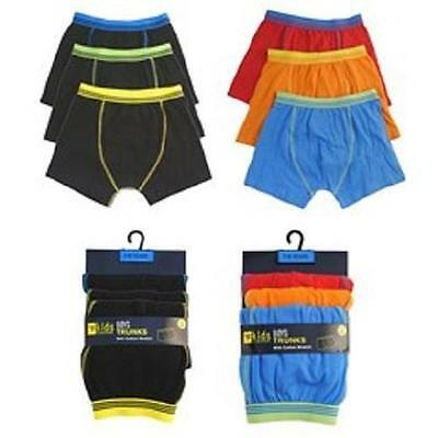 Boys 3 Pack Cotton Rich Boxer Shorts Age 2-3, 3-4, 5-6.7-8, 9-10, 11-12, 13 year