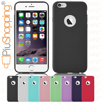 Cover Custodia Morbida TPU GEL Silicone Per iPhone 6 6S Apple Vari Colori Slim