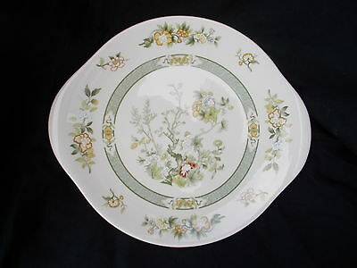 Royal Doulton TONKIN Cake Plate. Diameter 10 1/2 inches. Handle to handle