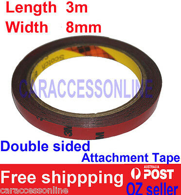 3M Genuine 4229p Automotive  Acrylic Plus Double Sided Attachment Tape 8mm