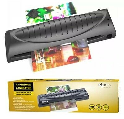 A3 Personal Laminator Laminating Machine Compact Free Pouches Starter Kit 73001C