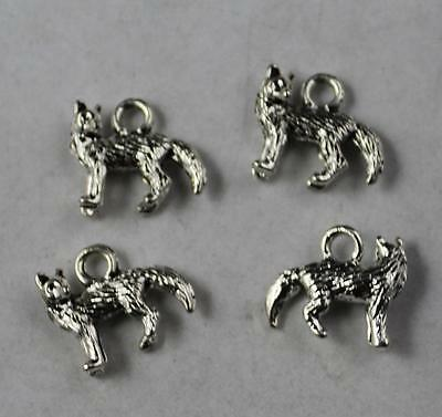 Free shipping 6//18pcs Retro Style alloy Tibet silver Wolf head Charms Pendants