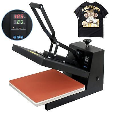 "Heat Press T-Shirt Heat Transfer Sublimation Machine 15"" x 15"" - Black Clamshell"