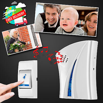 Wireless Home House Doorbell Chime Cordless 100M 32 Songs Melody Door Bell