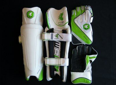 NEW CHAMP EXCELLOUS Men's Wicket Keeping Pads & Gloves Set