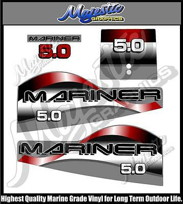 MARINER 5.0 hp  - OUTBOARD DECAL SET