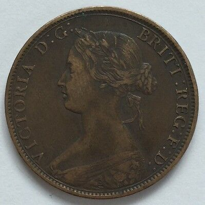 1864 Canada New Brunswick 1 Cent coin - Free Postage