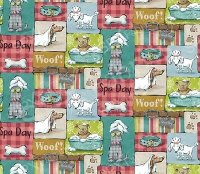 Pampered Pooch SPX Fabrics Dogs Quilting Patchwork Sewing