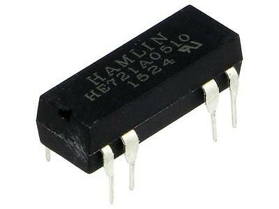 HE721A0510 Relay reed SPST-NO Ucoil5VDC max200VDC Rcoil500Ω 50mW PCB LITTELFUSE