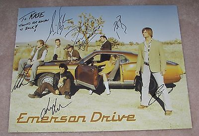 """Country Music EMERSON DRIVE 11"""" x 14"""" Poster Signed By The Band/ BRAD MATES"""