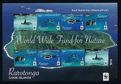 Rarotonga - WWF Reef Manta Ray 2016 Miniature Sheet