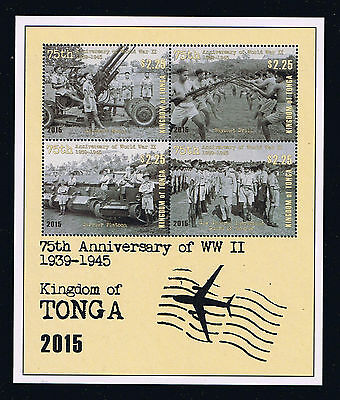 Tonga - 2016 75th Anniversary of World War II Postage Souvenir Sheet