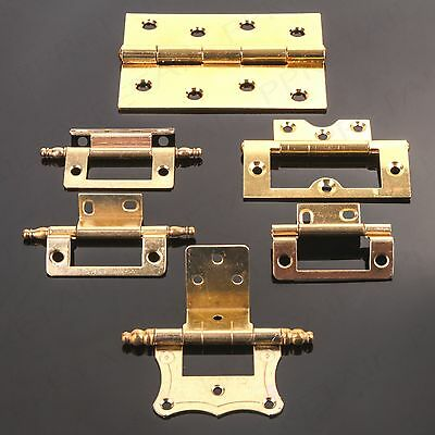 BRASS HINGE RANGE Grand Cupboard/Cabinet Door Fixing Double Cranked Flush Finial