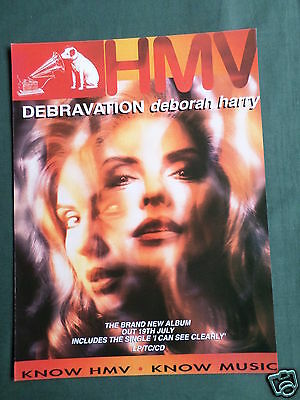 Debbie Harry - Magazine Clipping / Cutting- 1 Page Advert