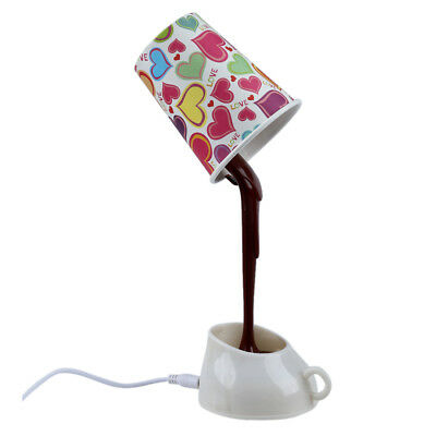 Novelty DIY LED Table Lamp Home Romantic Pour Coffee Usb Battery Night Light SP