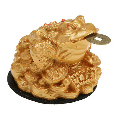 Feng Shui Money Lucky Fortune Oriental Chinese Wealth Frog Toad Coin Decor