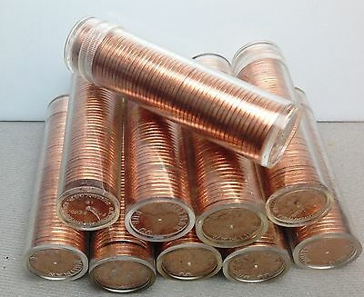 Lot of 40 Uncirculated rolls 1964 1965 maybe varieties Canada cents ( NUM2098A)
