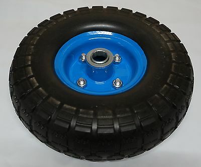 """10"""" Trolley Wheel SOLID Puncture Proof 20mm Double Bearing 4.10 / 3.50-4"""
