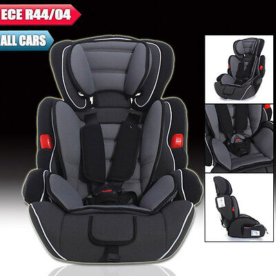 Black Grey Forward Facing Baby Children Kid Car Seat & Booster For 9-36kg US