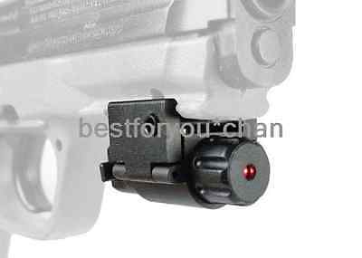 Tactical Airsoft Subcompact Mini Micro PISTOL LASER POINTER SIGHT 20mm Rail GLK