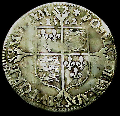 R315: 1562 MILLED Elizabeth 1st Silver Sixpence