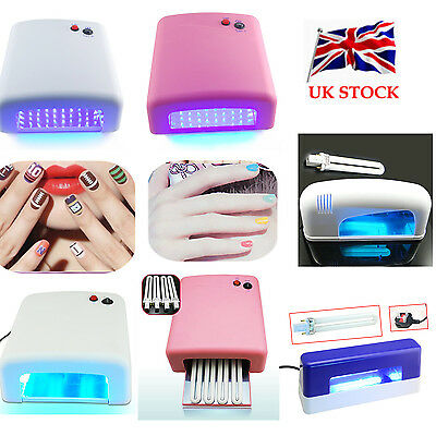 DIY 9W 36W LED UV Lamp Bulbs Nail Dryer Curing Timer Manicure For Art Gel