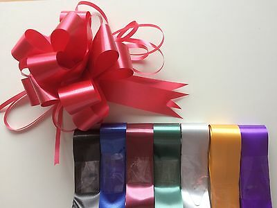 10 x Florist Pull Bows 30mm Mixed Colours Male Female Xmas Valentines Birthday