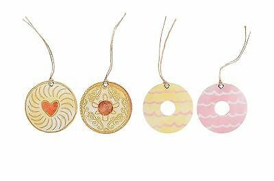 6 Sass and & Belle Celebration Biscuits Biscuit Gift Tag Tags Birthday Wrap Xmas
