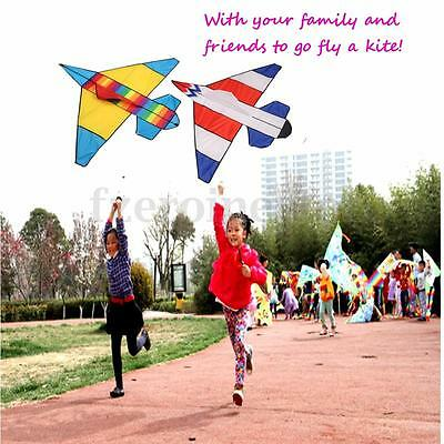 47 In Plane Kite Double Color Fighter Outdoor Novelty Fun Sports Children's Toys