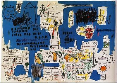 Jean Michel Basquiat Ascent Abstract Graffiti Oil Painting on Canvas 24x30""