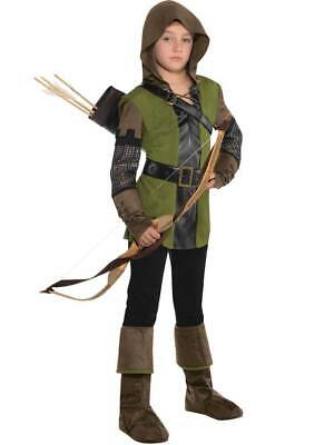 Child Boys Teen Prince Of Thieves Robin Hood Fancy Dress Costume Book Day Kids