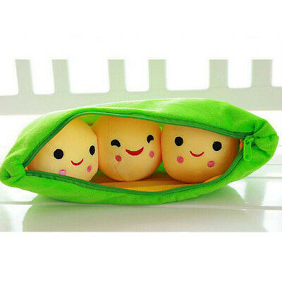 1PCS Cartoon Peas Creative Lovely Plush Toy Doll For Leaning Baby Toy