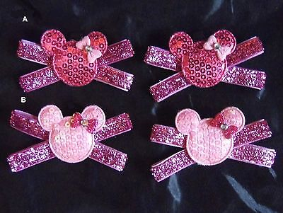 2 Minnie Mouse Clips for Shoes