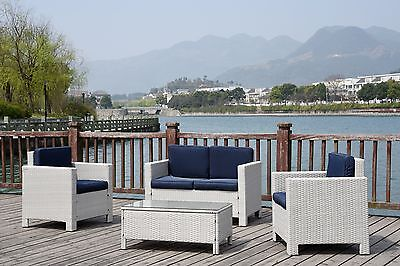 Grey Rattan Garden Wicker Outdoor Conservatory Furniture Table And Chairs Set**