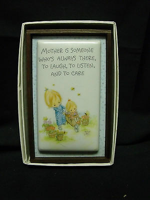 "Hallmark Little Gallery Betsey Clark Ceramic Plaque ""Mother Someone Who's"" MIB"