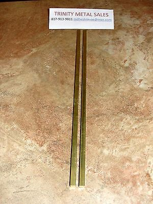 "1/4"" X 1/4"" Square X 12"" Brass C360 Bar -2- Pc Best Price Discounted Item!"