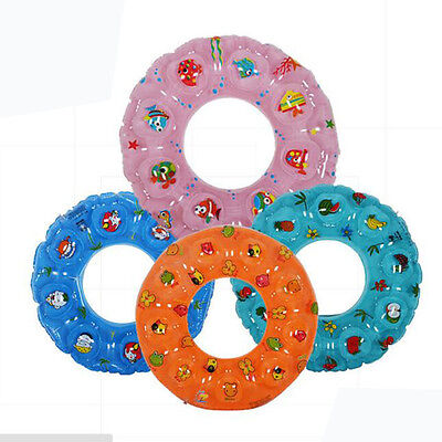 Double Thick Crystal Inflatable Swim Ring Baby Swimming Neck Float Safety