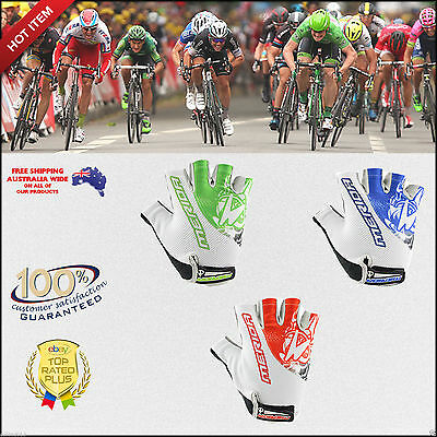 Breathable Cycling Bike Bicycle Sports Antiskid Silicon Pad Half Finger Gloves